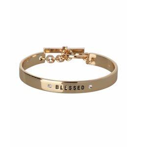 "BCBGeneration gold ""blessed"" bracelet"